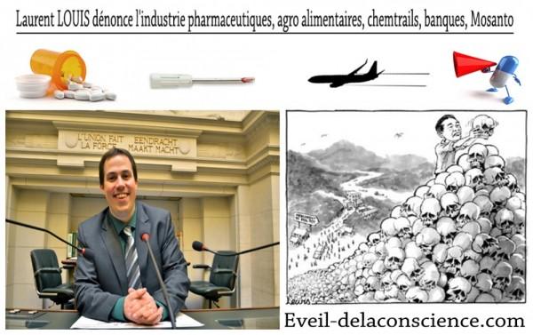 1_Laurent LOUIS dénonce l'industrie pharmaceutiques